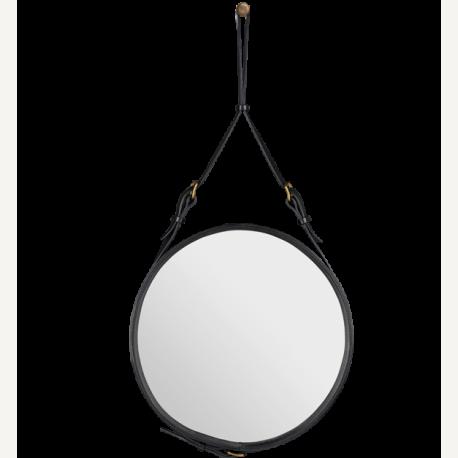 Adnet zrcadlo kulaté přírodní kůže ∅ 70 cm