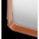 Zrcadlo Adnet obdélníkové, černá barva 180x70 cm