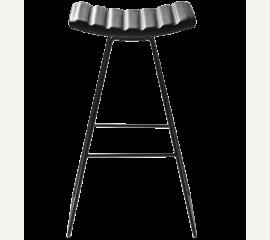 A3 barová stolička z černé kůže
