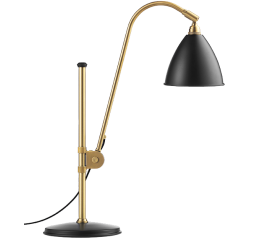Bestlite BL 1 table lamp brass with color shade