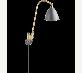 Bestlite BL6 nástěnná lampa mosaz a plechové stínítko