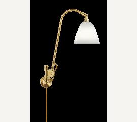 Bestlite BL6 nástěnná lampa, mosaz a porcelánové stínítko
