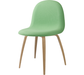GUBI 3D fully upholstered, wooden base, light green