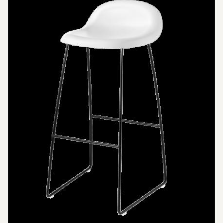 GUBI 3 barová stolička - černá podnož