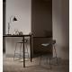 GUBI 3 barová židle - černá kovová podnož