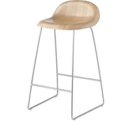 GUBI 3 stool - oak seating