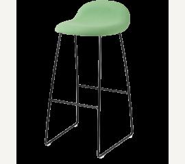 GUBI 3D barová židle čalouněný sedák, kovová podnož