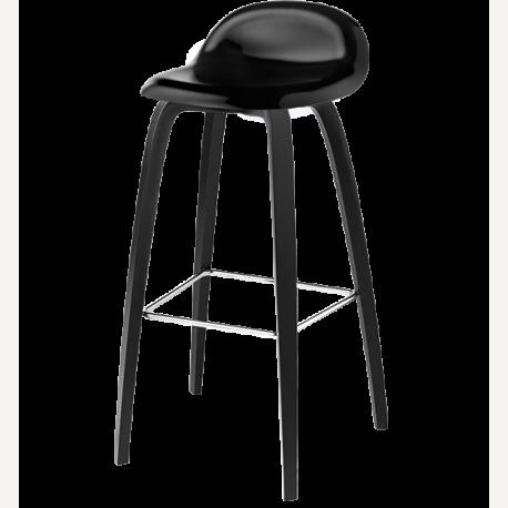 GUBI 3D dřevěná barová stolička