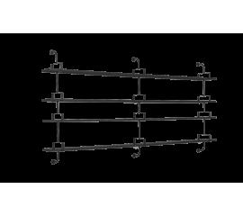 Matégot Demon 4 shelf, 275 cm
