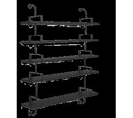 Matégot Demon 5 shelf, 155 cm