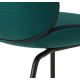 Beetle chair green with black base