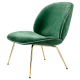 Beetle lounge chair green velvet