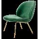 Beetle lounge křesílko zelený samet