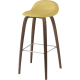 GUBI 3D barová stolička HiRek žlutý sedák