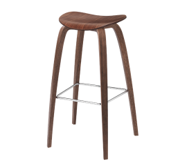 GUBI 2D Stool, walnut